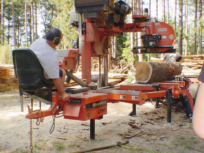 PORTABLE SAW MILL - Three T's Resort - Tomahawk, WI